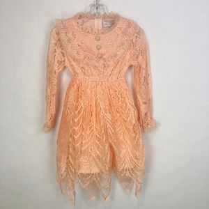 Trish Scully Child Lace Long Sleeve Dress